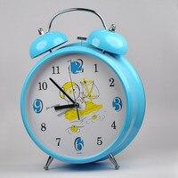 En gros 9 Pouce Créatif Énorme Silencieux Réveil Lumineux Électronique Sonnette D'alarme Stéréo Ronde Grande Horloge De Table