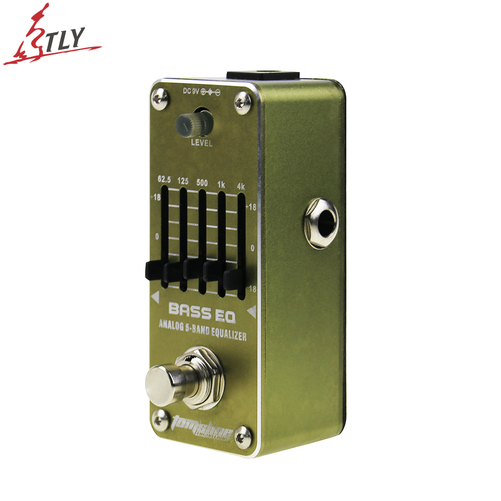AROMA AEB-3 True Bypass Bass Analog 5-Band EQ Equalizer Mini Single Electric Bass Effect Pedal aroma aeb 3 bass analog 5 band eq equalizer electric guitarra guitar effect pedal with true bypass