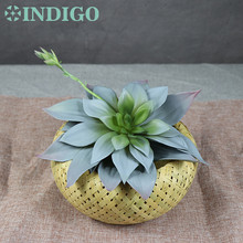 INDIGO Large Size 28cm Waterproof Lily Lotus Artificial Succulent Plant Real Touch Ourdoor Background Decoration Free Shipping