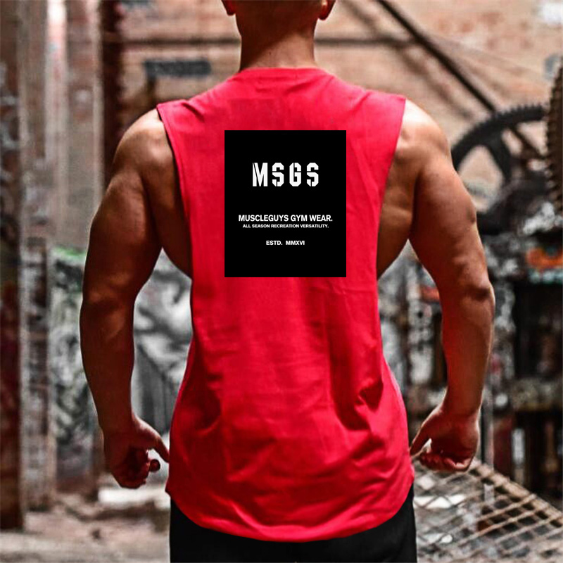 Brand Clothing 2018 Summer Men's fashion   Tank     Tops   O neck sleeveless vest Male cotton Fitness Vests Man muscle guys tee shirts