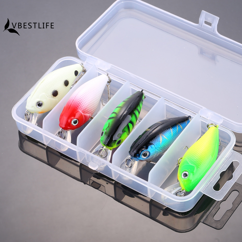 New 5Pcs/Set 5.5cm 7g Popper Fishing Lure Minnow Swimbait Crank Bait with 2 Treble Hooks Bass Pesca Tackle Kit Crankbait Box 1pcs high quality 5 4g 6cm fishing lures minnow crank bait crankbait bass tackle treble hooks fishing tackles hard baits pesca