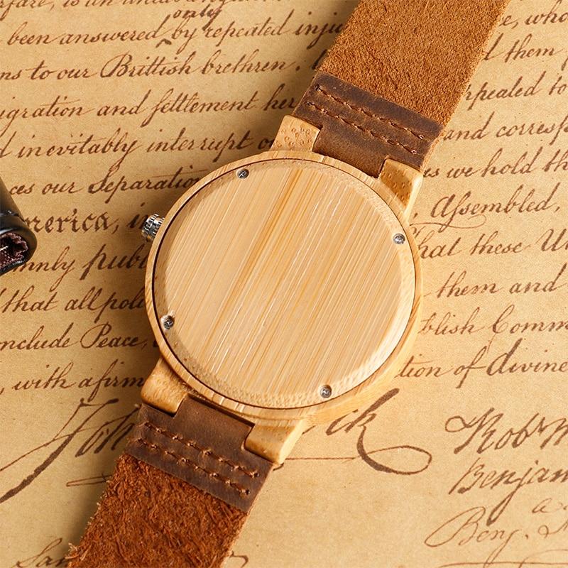 Unikatowy łosia renifera Dial ręcznie robiony Natura drewno zegarek - Męskie zegarki - Zdjęcie 5