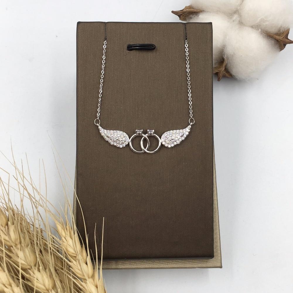 HADIYANA Κυβικά ζιργκόν φτερά σχήμα - Κοσμήματα μόδας - Φωτογραφία 2