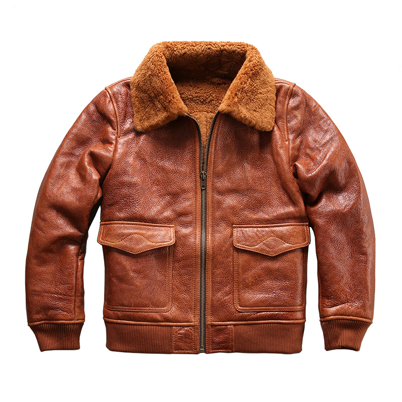 8013 европейский размер супер качество теплый Натуральная овечья кожа куртка мужская Большие размеры Дубленки военный бомбардировщик меха G1...