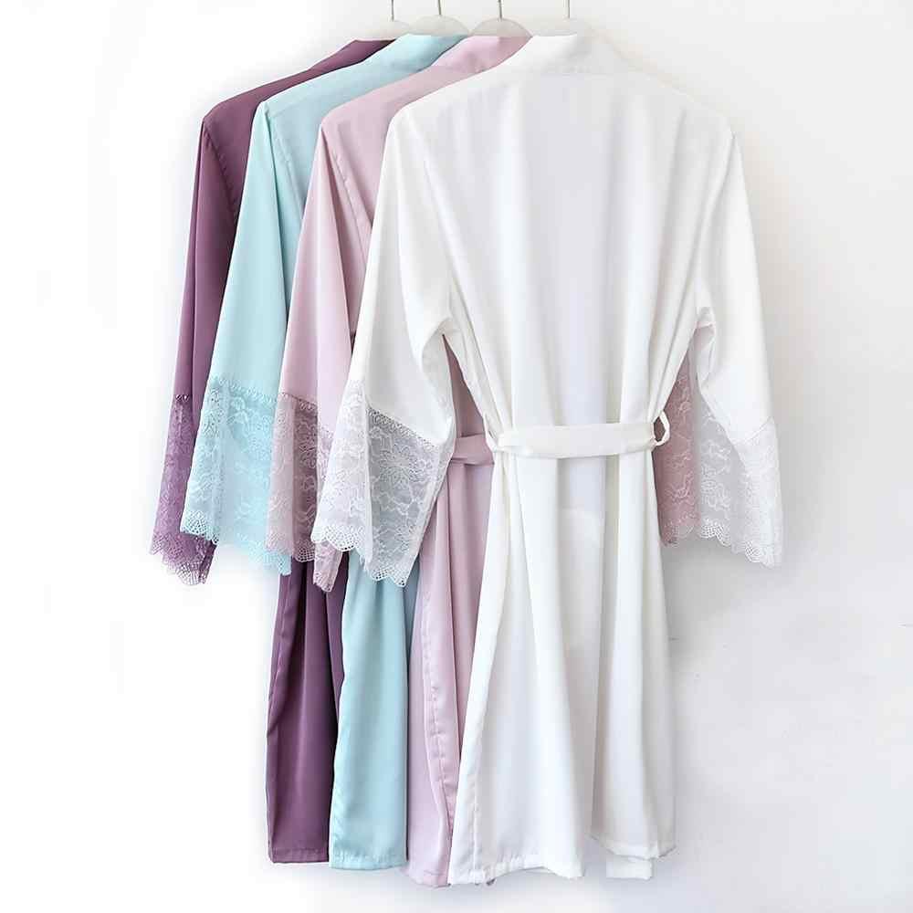 Trắng Nữ Rayon Cưới Áo Dây Đầm Nữ Trung Hoa Rời Váy Ngủ Sleepshirt Ren Kimono Dài Áo Tắm Váy Bầu