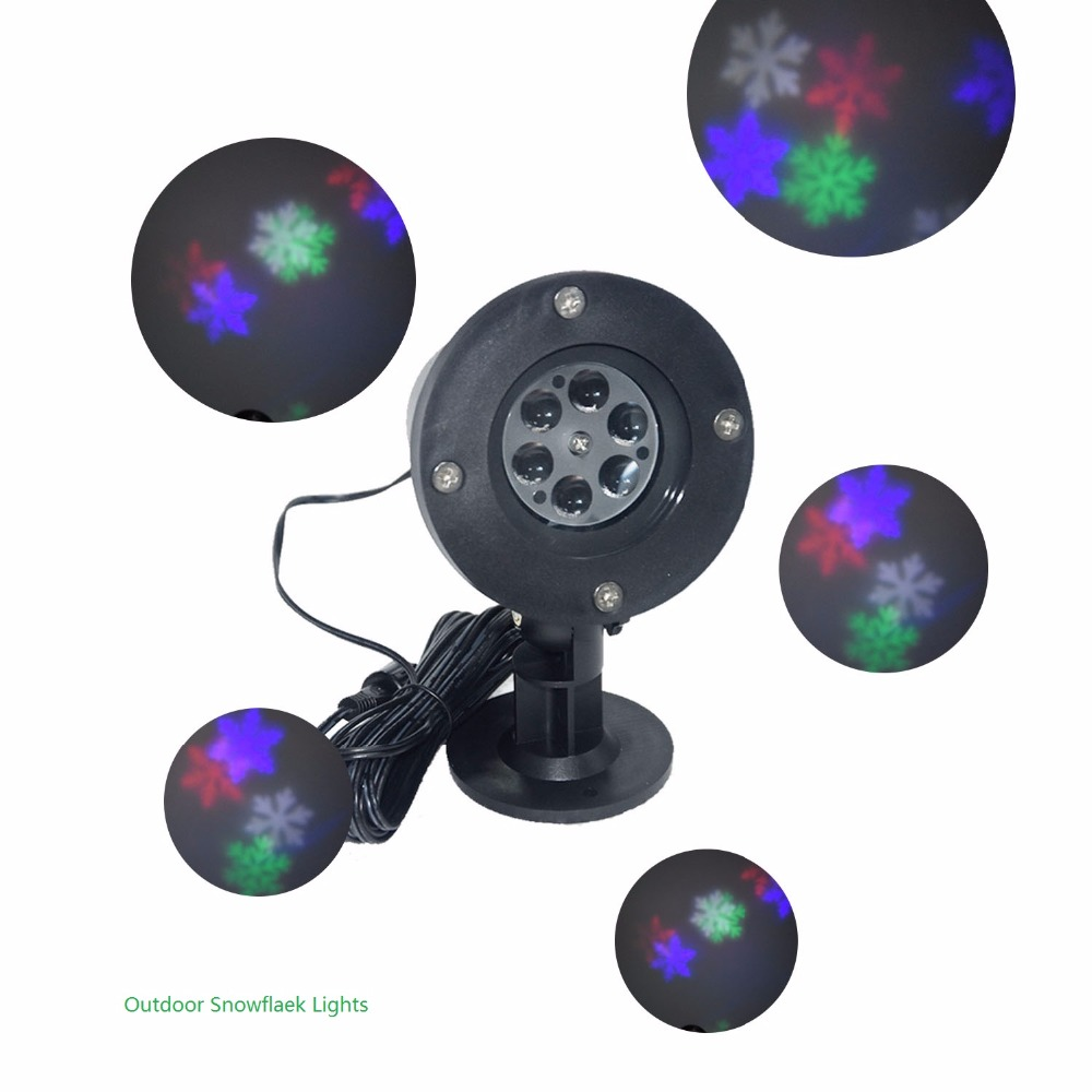 Christmas tree novelty christmas tree china http www gd wholesale com - Waterproof Lawn 6led Rgb Led Auto Rotating Projection Snowflake Effect Lights Christmas Snowflake Led Lamp Trees