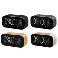 Bluetooth Speaker Support Temperature LCD Display FM Radio TF Alarm Clock