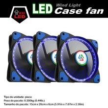 ALSEYE 120mm LED Cooler Fan (3 pieces/lot) Computer Case Cooling Fan 32 LEDs Cooler DC 12v 3pin 1100RPM Ultra Qiuet Fans