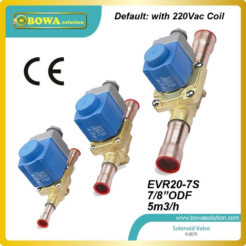 7/8 ODF(5M3/H) bigger CV value Solenoid Valve with coil for brine freezer unit replace Parker solenoid valve