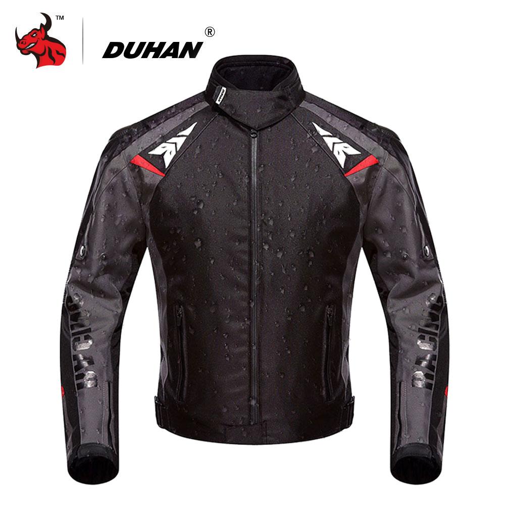 DUHAN Motorcycle Jacket Waterproof Moto Motocross Jacket Motorcycle Full Body Protective Gear Armor Autumn Winter Moto Clothing
