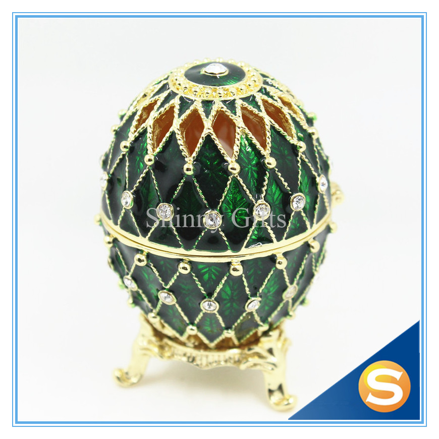 Free shipping 2016 new arrival faberge trinket box shiny chech free shipping 2016 new arrival faberge trinket box shiny chech crystal jewelry boxes easter gifts wedding gifts in bottles jars boxes from home garden negle Image collections