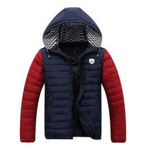 4XL-9XL Winter Jacket Men 2017 Baggy Patchwork Hooded Parka Warm Thick Padded Brand Clothing Homme Snow Cold Outwear Coat W06