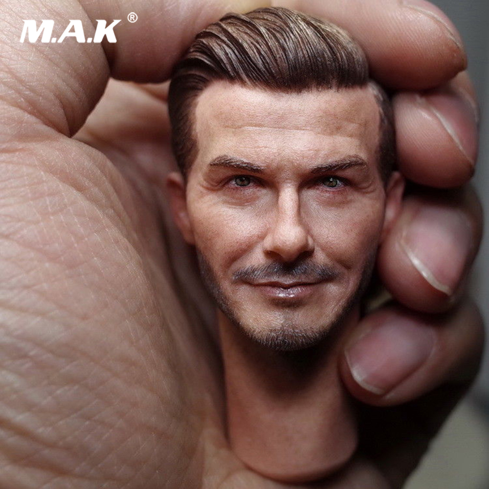 1/6 Scale Male Figure Accessory Soccer Star David Beckham Head Sculpt Model Toys for 12
