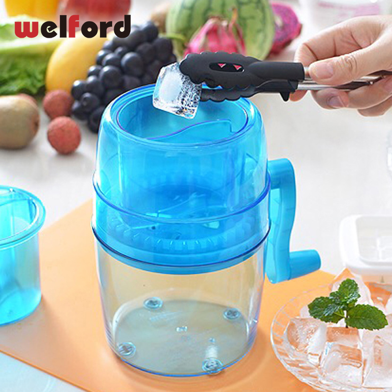 Mini Hand Cranked Ice Machine Ice Crusher Manual Ice Machine Children Home Frozen Fruit Dessert Machine Fruit Ice Cream tools