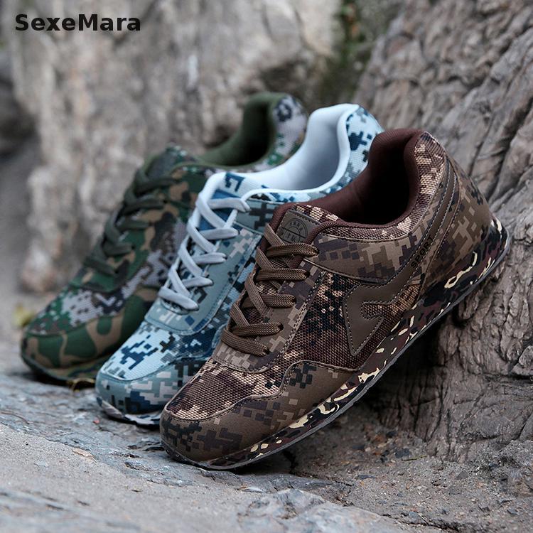 Zapatos de los hombres de camuflaje Camuflaje Antideslizante Senderismo Zapatos