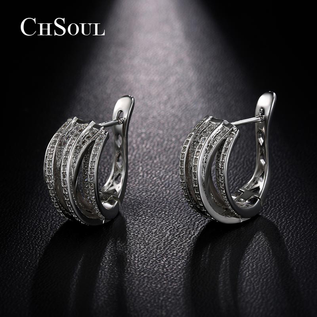 chsoul new design stud earrings plant vine ear loop for