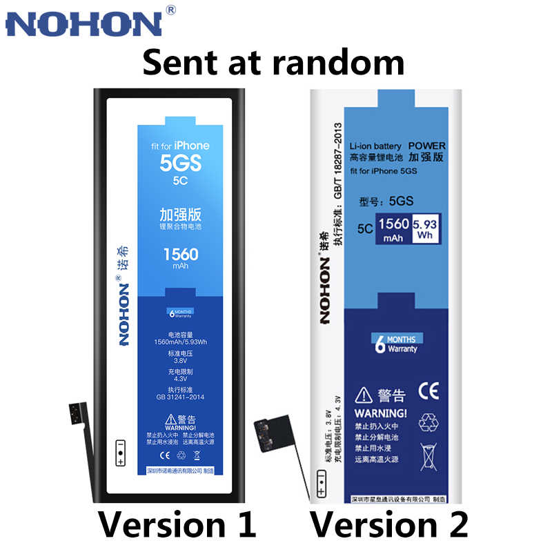 Bateria nohon para apple iphone 8 7 6s 6 s plus se 5S 5c x xr xs max 4S 4 bateria original para iphone6 6 plus 6 splus 7 mais 8 mais