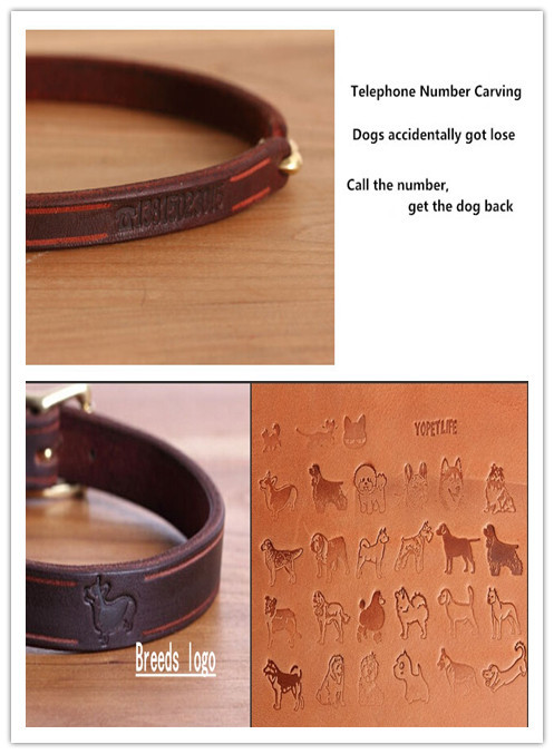 d6bc0e6ef24b Handmade Custom Pet Dog Cat Collars Leather Material with S Hook & Rectangle  Design Phone Anti lost Puppy Collar-in Dog Collars & Leads from Home &  Garden ...