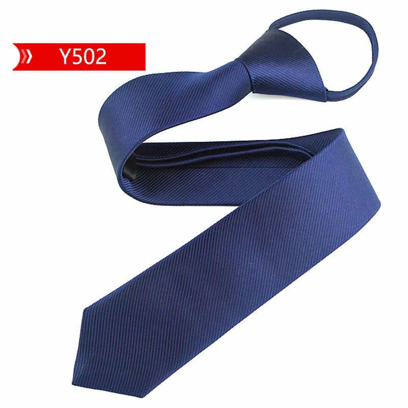 Cravate étroite de 5cm pour hommes et femmes, cravate étroite et paresseuse facile à tirer, vêtement à col en corde de Style coréen, fête de mariage, bleu pour anniversaire