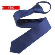 Fashion 5cm Necktie For Men and Women Slim Narrow Lazy Tie Easy To Pull Rope Neckwear Korean Style Wedding Party Aniversary Blue