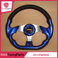 13 Inch MOMO Racing PU Steering Wheel With Horn Line  RS-STW008