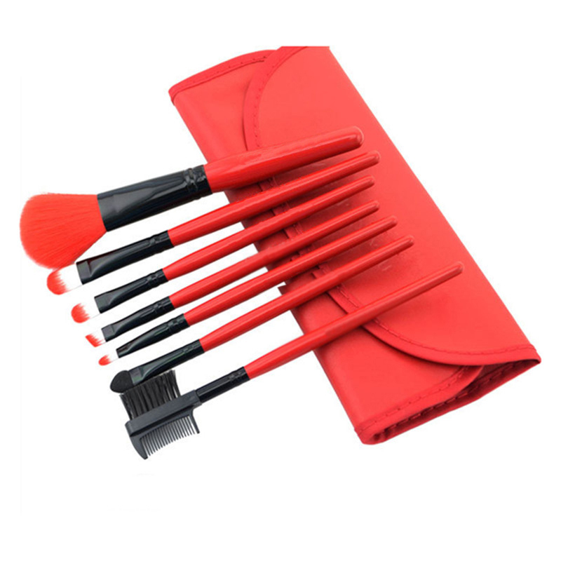 Mileegirl 7Pcs/Set Makeup Brushes,Professional Portable Cosmetic Make Up Tools,Synthetic Hair Brush For Eyebrows Eyeshadow Blush 147 pcs portable professional watch repair tool kit set solid hammer spring bar remover watchmaker tools watch adjustment
