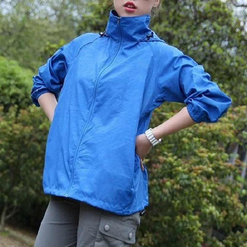 Hommes femmes séchage rapide randonnée vestes 2020 nouveau imperméable soleil-protection Sports de plein air manteaux peau mâle femme coupe-vent RW188