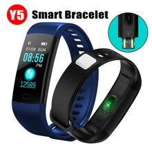 Smartband Armband Y5 Farbe Bildschirm von Blutdruck Messung Tracker Pedometer Fitness Uhr Intelligente bluetooth Uhr