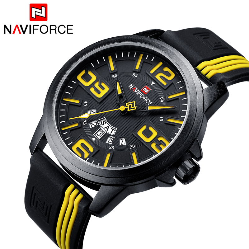Mens Sports Watches Luxury Brand NAVIFORCE Quartz Watch Military 3ATM Waterproof Clock Male Wristwatches Relogio Masculino 9123