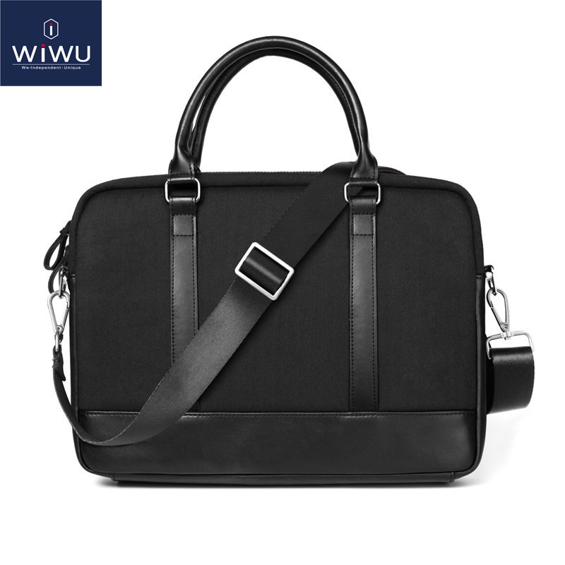 цена на 13 14 Inch Laptop Bags Waterproof Leather Men's Bag for Macbook 13 High Quality Laptop Briefcase 14 England Handbag Notebook Bag