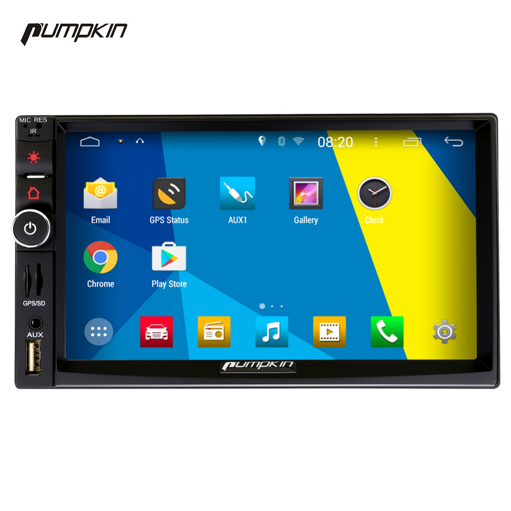Pumpkin 2 Din Android 4.4 Car DVD Player Car Stereo GPS Navigation 7 Inch Autoradio Touch Screen Wifi Bluetooth No DVD Free Map