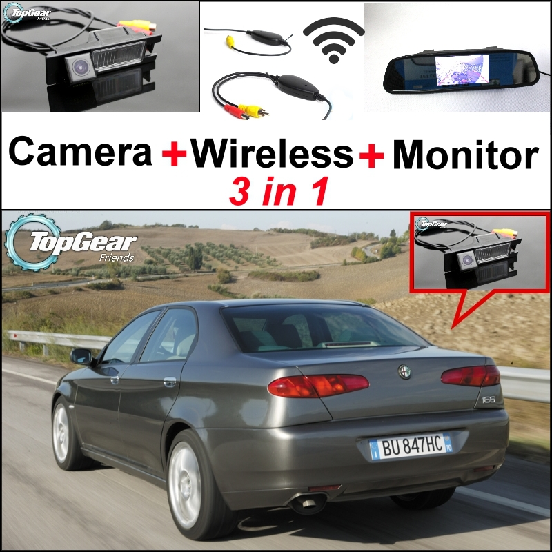 Wireless Receiver + Mirror Monitor EASY DIY Backup Parking System + 3in1 Special WiFi  Camera For Alfa Romeo AR 166 wireless pager system 433 92mhz wireless restaurant table buzzer with monitor and watch receiver 3 display 42 call button