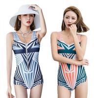 Striped One piece Swimsuit Ladies Bikini Sets Beach Swimwear Bathing Suit One Piece Swimsuit For Spa Swimming Pool Beach