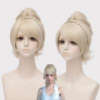 Hot Gry Final Fantasy XV Lunafreya Cosplay Peruki Kobiety/Dziewczyny Księżniczka Jasny Złoty Włosów Halloween, Kostiumy Sceniczne Peruka wysokiej jakości