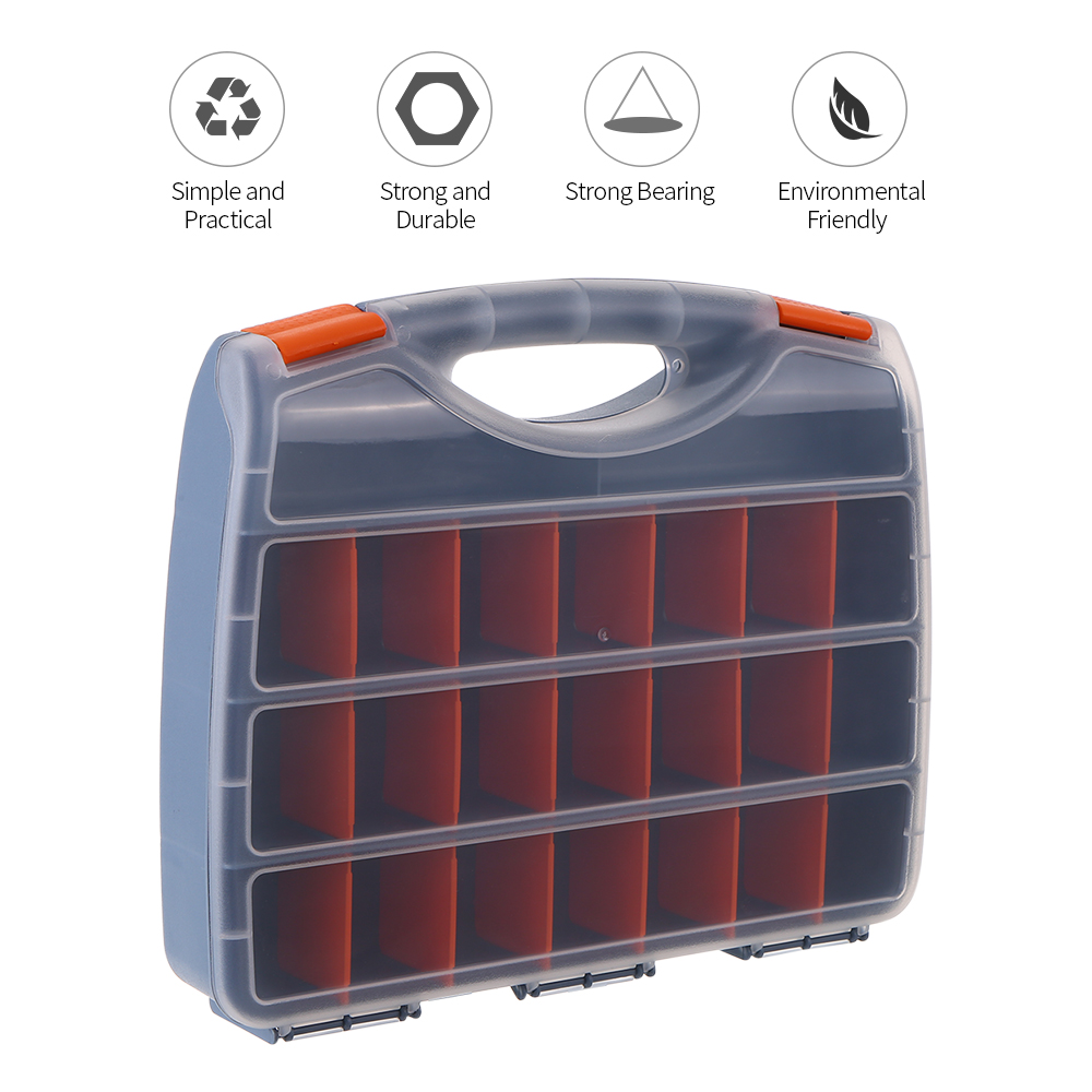 Plastic Parts Storage Box Multiple Compartments Slot Hardware Box Organizer Cabinet Tools Components Container Accessories