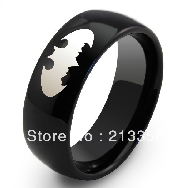 free shipping buy cheap price jewelry usa brazil russia hot selling 8mm mens black dome superhero