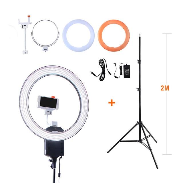 """Nanguang CN-R640 19 """"фото/видео/Студия/телефон 640 LED 5600 К камеры Macro Ring свет лампы для макияжа фотографии с штатив Стенд"""