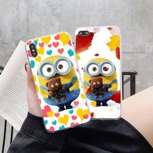 Soft TPU Silicone Phone Coque Cover For iPhone XS 5S SE 6 6s 7 8 Plus Max XR X New Despicable Me 3 Yellow Minions Design Case