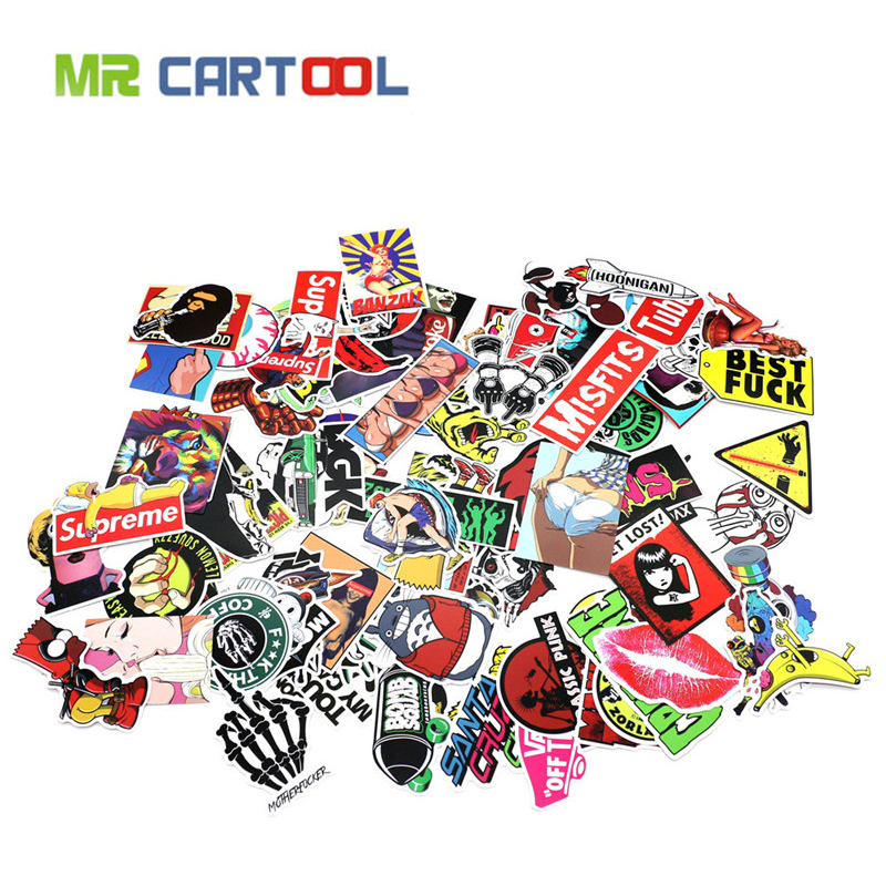 Car Styling A Set Joke Sticker For Motorcycle BIKE CAR UNIT SCOOTER DECALS Skateboard Graffiti Snowboard Bags STICKERS mimiatrend 100 pcs car styling jdm decal sticker for graffiti cover skateboard snowboard motorcycle bike laptop bomb