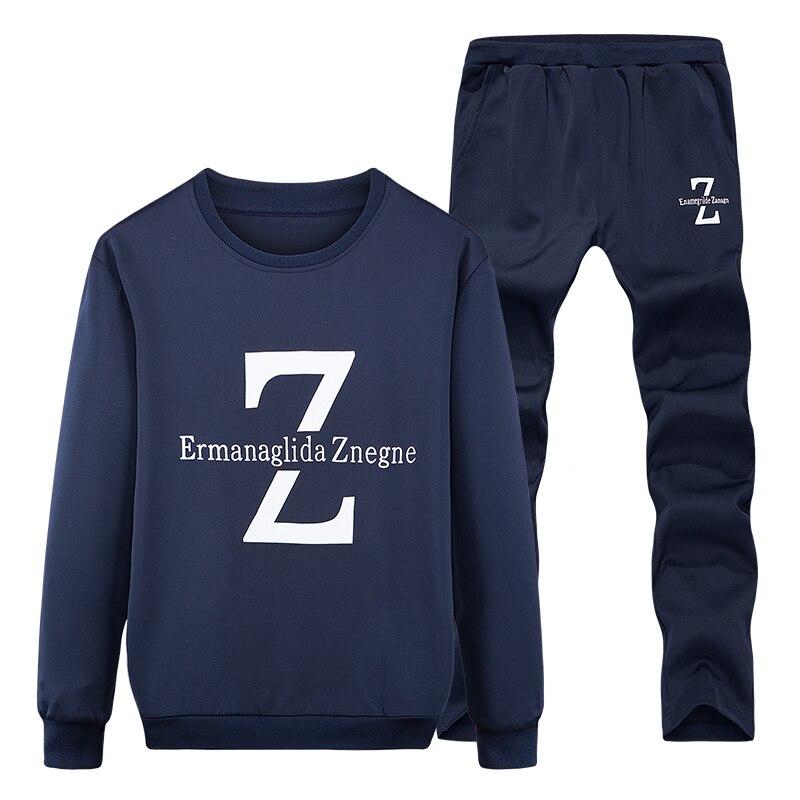 Tracksuits Men Winter Tracksuit Set Solid Sweat Suit Men Track Suits Set Coat+Pants Outwear SportsSuit Jacket and Sweatpant 2018