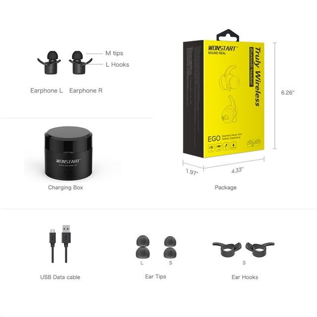 In-Ear Stereo TWS Wireless Earphones With Charging Case WONSTART W302 Newest Twins True Wireless Earbuds Mini Bluetooth
