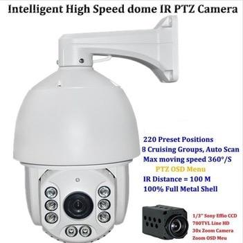Free DHL New High Speed Outdoor 700TVL SONY 30x Zoom 8pcs IR PTZ DOME CCTV Security Camera+Free Shipping Surveillance