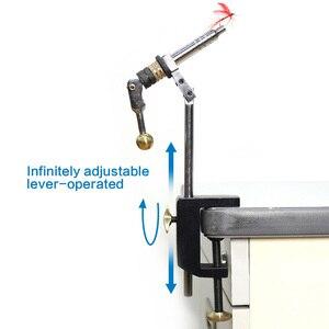 Image 4 - Kit de ferramentas rotativas para fazer mosca, braçadeira dura de aço e com 360 garras rotativas, tipo vise c e mosca ferramentas de pesca