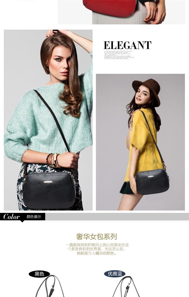 New 2015 Fashion Women Genuine Leather Messenger Bag Shoulder Bags Crossbody  Bolsos Carteras Mujer Marca Handbags Famous Brands06