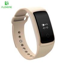 Floveme deporte pulsera inteligente bluetooth 4.0 el hombre fresco de smart watch para ios android monitor de sueño pulsera reloj para iphone samsung