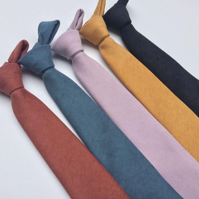 Hingebungsvoll Neue Einfarbige Krawatte Männer Kommerziellen Luxus Krawatte Krawatte Klassische Farbe Krawatte Herren Krawatten Designer Handgemachte Europäischen Krawatten 7 Cm Bekleidung Zubehör