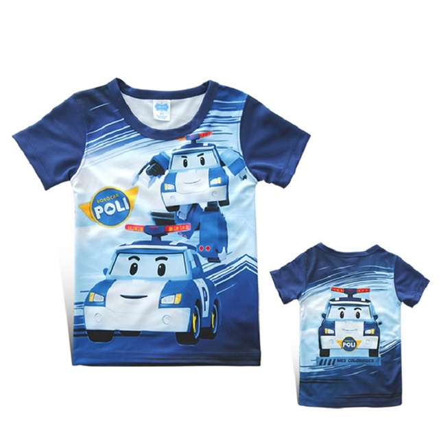 a9b475c56 2019 new arrival boys and girls t shirt POLI ROBOCAR Cartoon Kids ...