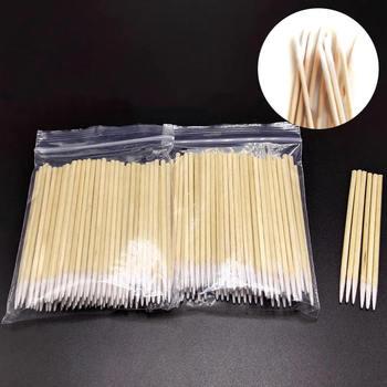 100pcs Permanent Microblading Wood Cotton Swab Makeup Bud Cosmetics Sticks For Makeup Beauty Tools