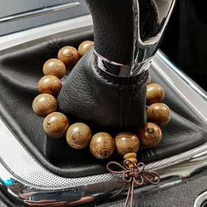 1 PC Natural Wenge Wood 18mm Beads Bracelet Mala Buddha Men Women Safe Prayer Car Interior Pendants Accessories Dropship