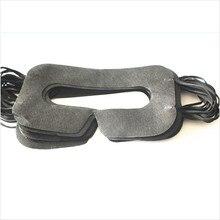 Linhuipad ユニバーサル 100 パック衛生 vr マスクパッド黒使い捨てアイマスクため vive アキュラスリフト 3D 仮想現実メガネ